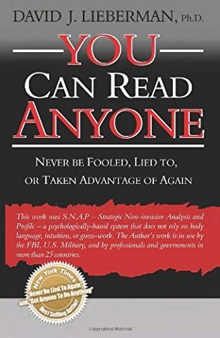 You Can Read Anyone by Lieberman, David J. (2007) Paperback