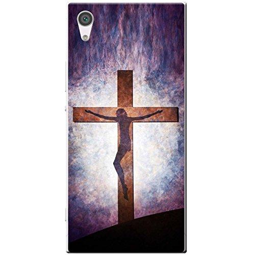 Kreuzigung von Jesus auf Hügel Hartschalenhülle Telefonhülle zum Aufstecken für Sony Xperia XA1 Ultra -
