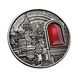 Moscow Kremlin 3D Big 55mm Diameter Russian Commemorative & collectable Coin