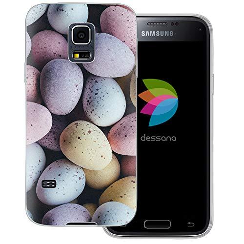 dessana Candy Süßigkeiten Transparente Schutzhülle Handy Case Cover Tasche für Samsung Galaxy S5 Mini Oster Eier