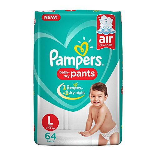Pampers New Large Size Diapers Pants, 64 Count