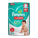#1: Pampers New Large Size Diapers Pants, 64 Count