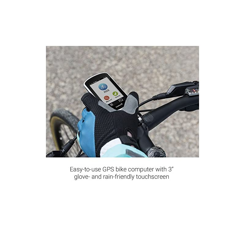 Garmin Edge Explore Touchscreen Touring Bike Computer with Connected Features, White