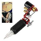 Neu Tattoomaschine Hansee Professionelle Langlebig Rotary Tattoo Motor Maschine für Körper Kunst Shader Ausrüstung Flexibilität (rot)