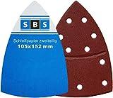 SBS hojas de lija con velcro 105x 152mm, grano 180para multilijadora Prio–50Unidades