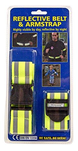 Reflektor universal Band Gurt mit Streifen für Warnweste für Kinder Schulranzen für Kleidung Feuerwehr und Polizei Kostüme (Feuerwehr Kleidung)
