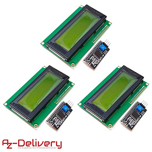 AZDelivery ⭐⭐⭐⭐⭐ 3 x HD44780 2004 LCD Display grün Bundle 4x20 Zeichen mit I2C Schnittstelle für Arduino mit gratis eBook! - 4 X Lcd-display