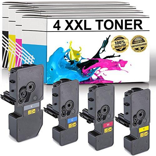 LABT Premium 4er Set Toner TK-5230 als Ersatz für Kyocera Ecosys M5521cdn, M5521cdw, P5021cdn, P5021cdw - mit Füllstandsanzeige | 40% Höhere Druckleistung als TK-5220