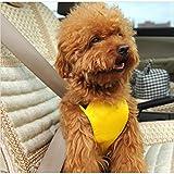 Hoopet® Wasserdicht Atmungsaktiv Auto-Sicherheitsgeschirr für Hunde Gelb S