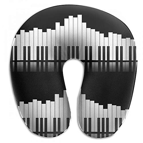 Vidmkeo Music Piano Keyboard Equalizer Neck Head Support Travel Rest U Shaped Pillow for Airplane Train Car Bus Office - Equalizer Kissen