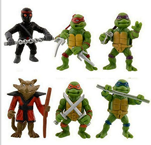 Tortugas Ninja Donatello Raphael Michel Angelo Leonardo Splinter y Shredder 4311