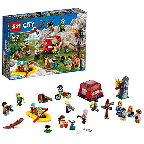 LEGO City - Ensemble de figurines - Les aventures en plein air - 60202 - Jeu de Construction