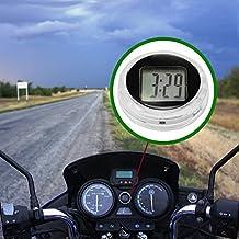 FORNORM Reloj de Moto Impermeable Stick On, Universal Pequeño Reloj Digital para Motocicleta, Adhesivo