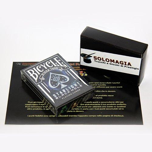 Solomagia mazzo di carte bicycle starlight black hole - limited edition - mazzi di carte da gioco