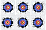 3dRose GC 157561-1(15,2x 15,2cm, Rot, Gelb, Schwarz, Weiß, Blau und/Bogenschießen/Fußball/Sport/Grußkarte, Motiv: