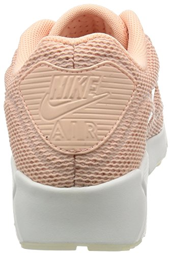 Scarpe basse NIKE Air Max 90 Ultra 2.0 BR in tessuto rosa monocromo 898010-800 Rosa