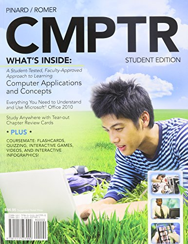 Bundle: CMPTR (with Computers & Technology CourseMate with eBook Printed Access Card) + SAM 2010 Projects v2.0 Printed Access Card + Microsoft Office 2010 180-day Subscription