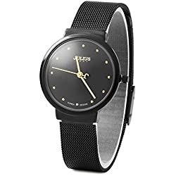 Julius JA - 426 Female Ultrathin Stainless Steel Mesh Band Quartz Wrist Watch
