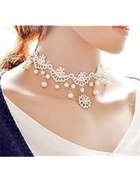 Hosaire Choker Collares Novia de Moda Elástico Terciopelo Classic Adhesivo de Gótico Encaje Gargantilla Collares