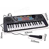CM SALES 37 Key Piano Bigfun Keyboard Toy with Recording and Mic & Mobile Charger Power Option battery operated