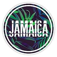 2 x 10cm Jamaica Holiday Tropical Surf Stickers - Travel Sticker Luggage #21014 (10cm Wide)