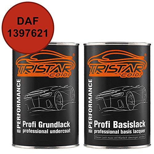 TRISTARcolor Autolack Set Dose spritzfertig DAF 1397621 Rood Grundlack + Basislack 2,0 Liter 2000ml