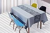 QWEASDZX A Prueba de Aceite Antifouling Estilo Nacional Sencillo y Moderno Algodón de poliéster Mantel Cuadrado Adecuado para Interiores y Exteriores Mantel Rectangular Mantel Multiuso 140x180cm