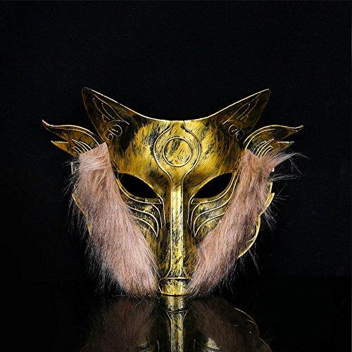 Kicode Halloween Party Werwölfe von Miller's Hollow Game Wolf Masken Kopfbedeckung Helm Horror Streich Requisiten Ornament (Wolf Halloween Masken)