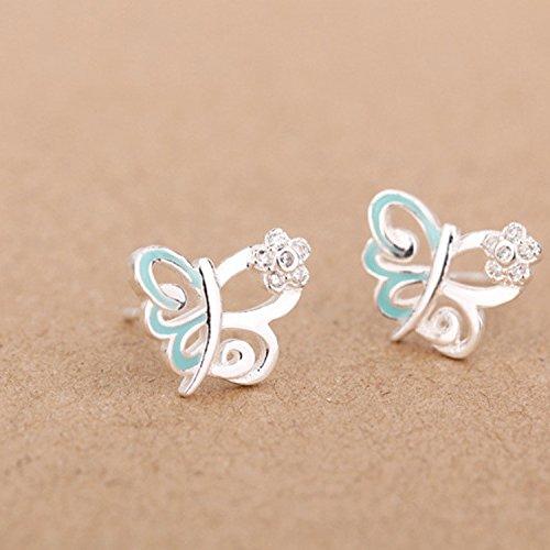 925-sterling-argent-flower-zircon-zirconium-butterfly-epoxy-enamel-boucles-doreilles-earring-bague