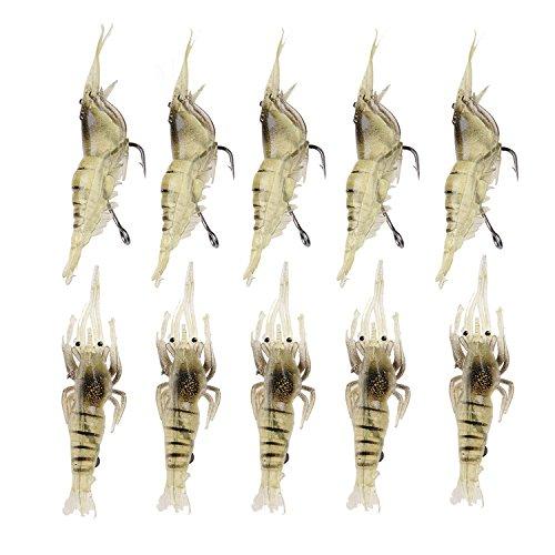 10pcs synthétique doux Leurres de pêche Poissons...