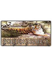 Xpression Décor Key Holder Rack with Photo of Tiger 7240