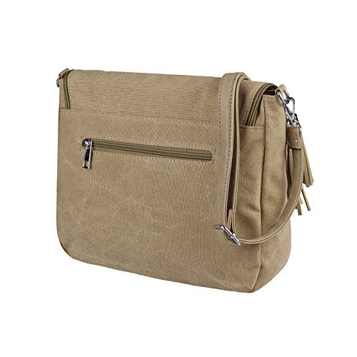 OBC Only-Beautiful-Couture, Borsa a mano donna beige beige-grigio ca.: 32x27x10 cm (BxHxT) Khaki-Grau