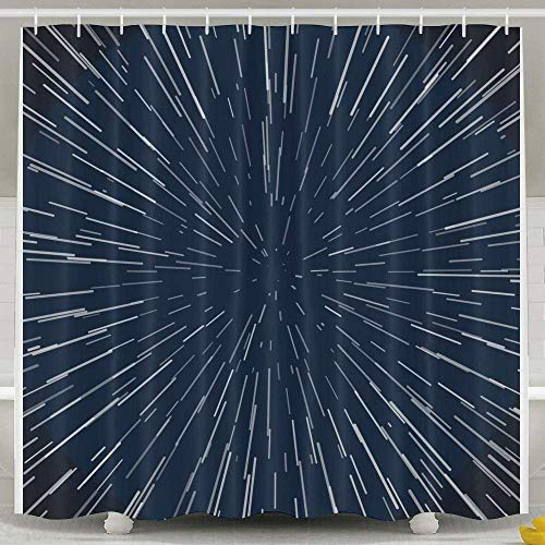 AORSTAR Duschvorhang d¨¦COR Stars Zoom Galaxy War Odorless Waterproof Shower Curtains for Bathroom Premium 100% Polyester Fabric Waterproof Shower Curtain Eco-Friendly Tie-Dye Decor 72x72 Inch (Wars Stars Duschvorhang)