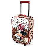 Karactermania Minnie Maus Muffin-Soft 3D Trolley-Koffer Valigia per bambini, 52 cm, 23 liters, Marrone (Brown)