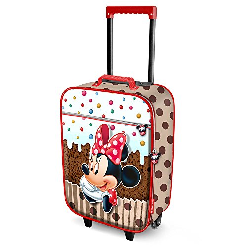 Karactermania Minnie Mouse Muffin-Soft 3D Trolley Suitcase Valigia per bambini, 52 cm, 23 liters, Marrone (Brown)