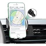 iAmotus® Support Téléphone Voiture Rotation 360 Degrés Ajustable Support Téléphone Universel à Grille d'aération pour iPhone 7 6S 6 Plus 5S SE Samsung Galaxy S7 S6 Edge S8 LG Huawei Sony Appareils GPS