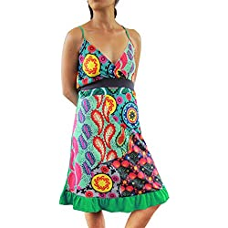PANASIAM - Vestido - Túnica - para mujer verde 36