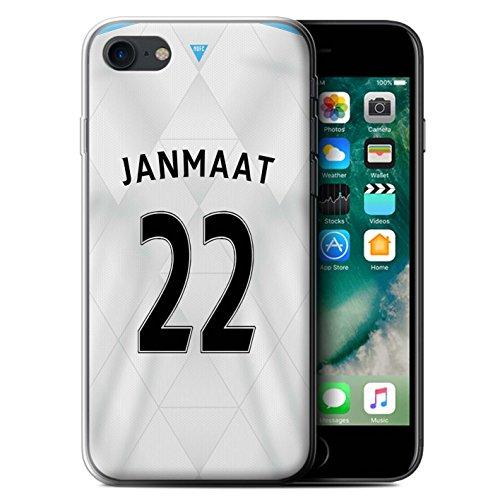 Officiel Newcastle United FC Coque / Etui Gel TPU pour Apple iPhone 7 / Mitrovic Design / NUFC Maillot Extérieur 15/16 Collection Janmaat
