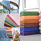 Blueee : 1pc Microfiber Absorbent Bath Beach Towel 70x140cm Drying Washcloth Swimwear Shower