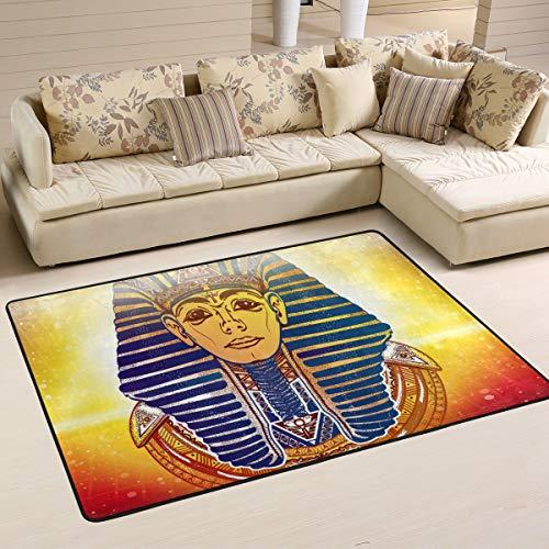 Antik-gold-teppich (JSTEL Teppich, waschbar, weich, Gold, Pharao, antikes ägyptisches äsoterisches Raum, 90 x 60 cm, Multi, 90 x 60 cm)