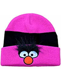 The Muppets Womens Pink Animal Knit Beanie Stocking Cap Hat