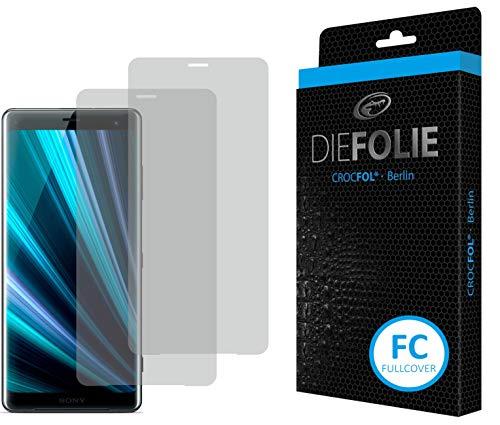 Crocfol Bildschirmschutz für Sony Xperia XZ3: 2X DIEFOLIE Schutzfolie Fullcover Folie zur Nutzung ohne Schutzhülle