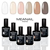 UV Nagellack -Shellac  Nagellack Sets - UV Gel Set - Soak Off Gellack Set - Nail Polish Set 6 Farben - 14 Tage Halt - vegan& cruelty free