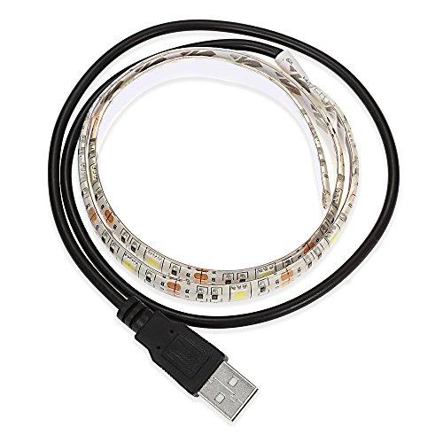 Tini Regner LED-Streifen, 5 V, 0,5 m, wasserdicht, dekorative Lampe mit USB-Kabel Cool White Light