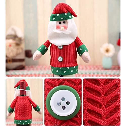Gfone Xmas Outfit Tischdekoration Weihnachten Weinflasche Sleeve Cover Geschenk Dekorationen