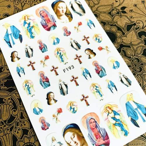 ZJWLL Latest 3D Nail Art Sticker Nail L-192 Angel Series Nail Art Sticker Decal Tool Strumento Fai da Te F-193