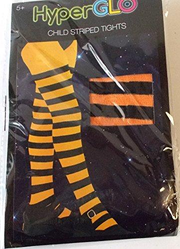 orange-black-striped-child-tights-hyperglo-5-osfm-nip