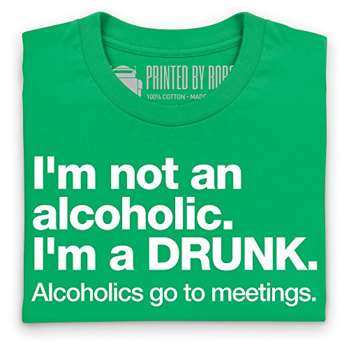 Not An Alcoholic T-shirt, Uomo Verde smeraldo