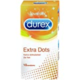 Durex Condoms, Extra Dots - 10 Count