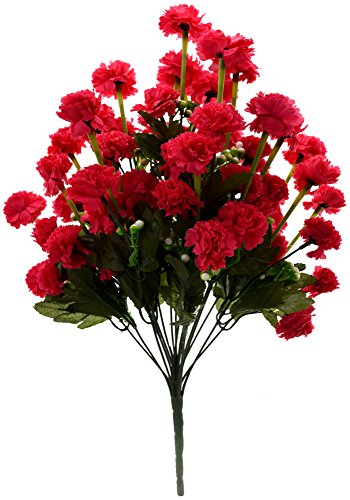Fourwalls Artificial Marigold Flower Bunch (54 Flowers, AB54HDMERRYGOLD1235dkpink)